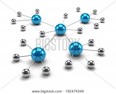 Metallic Spheres Linked Together