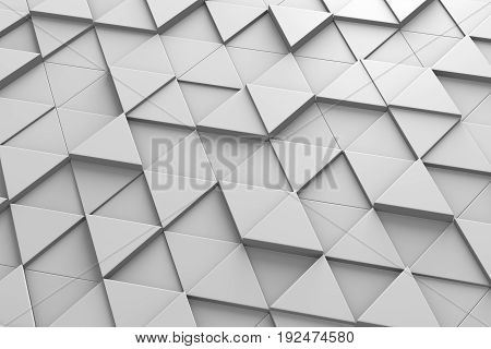 Triangle-Shaped Tiles Arranged in Random Height Illustration