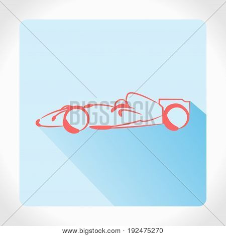 Set Of Formula 1 One Racing Car Icons. Vector