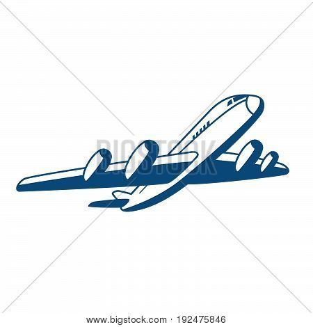 Vector airplane logo silhouette illustration. The concept of air travel.