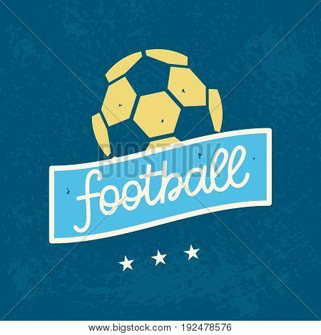 Vector Football Logo Template. Soccer Championship Emblem Design