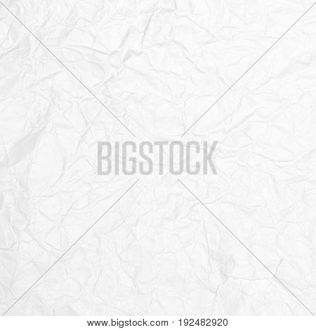 Crumpled white paper texture, paper background for business, education and communication concept design.