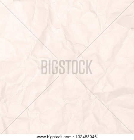Crumpled light brown paper texture, paper background for business, education and communication concept design.