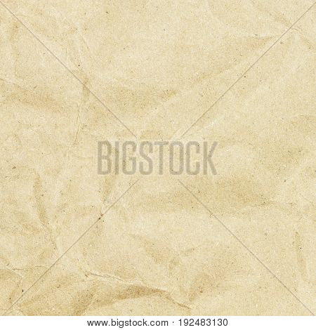 Recycled crumpled paper texture, paper background for business, education and communication concept design.