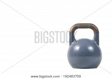 Kettle bell isolated on a white background.
