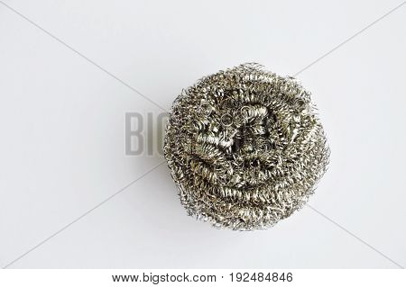 circle steel wool for heavy duty on white background