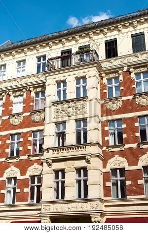 Beautiful restored house at the Prenzlauer Berg district in Berlin