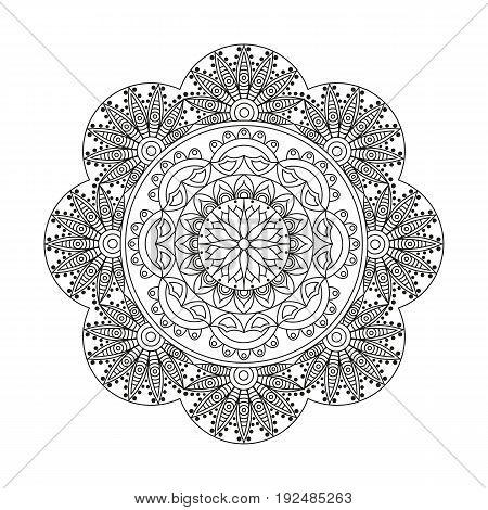 Flower Mandala. Vintage Decorative Elements. Oriental Pattern, Vector Illustration. Islam, Arabic, I