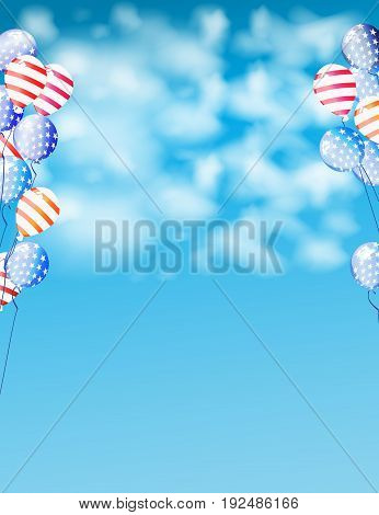 Banner The Us Independence Day With