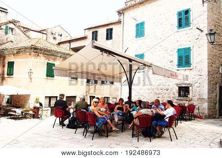 KOTOR - JUNE 01, 2017 - Old city of Kotor, Montenegro, Europe