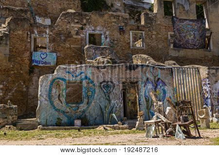 Lisbon, Portugal - May 19, 2017: Fragments From The Streets Of Old Lisbon, Portugal