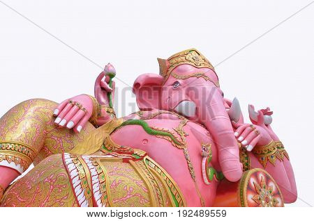 The Ganesh of Success in Thailand has an ancient abstract art background.