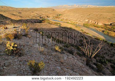 Scenic Landscape in Big Bend National Park, Texas