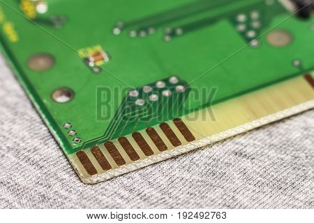 Circuit board. Electronic computer hardware technology. Motherboard digital chip. Tech science background. Integrated communication processor. Information engineering component.