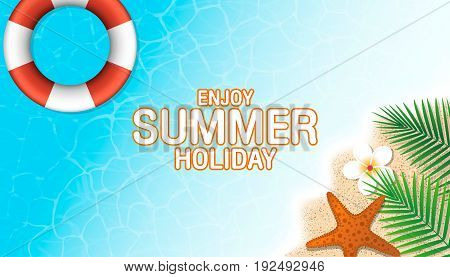 Enjoy Summer Holiday Background. Season Vacation, Weekend. Vector Illustration.