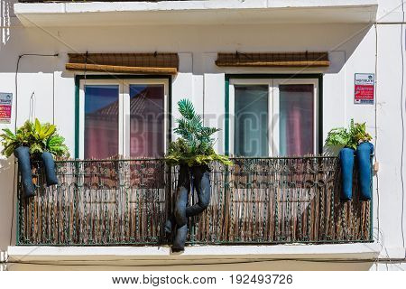 Lisbon, Portugal - May 17, 2017: Fragments From The Streets Of The Old Lisbon, Portugal