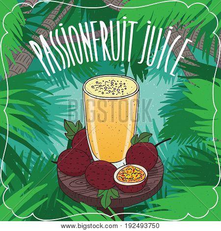 Fresh Passion Fruit Or Passionfruit Juice