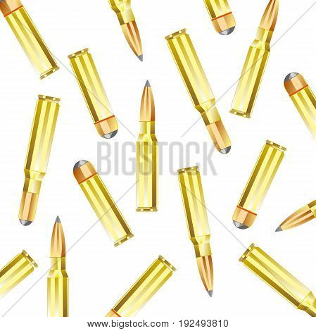 Patrons to weapon of the miscellaneous of the calibre on white background