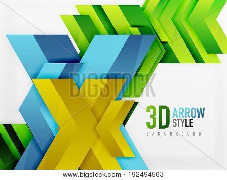 Techno arrow background, template design