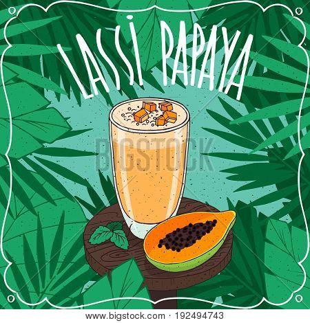 Papaya Indian Drink Lassi With Fresh Juice