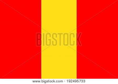 Flag of Senlis is a commune in the Oise department in northern France. Vector illustration