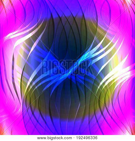 Swirl yellow purple neon luminous light background