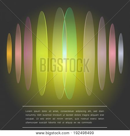 Abstract background with a text copy-space and colorful discs