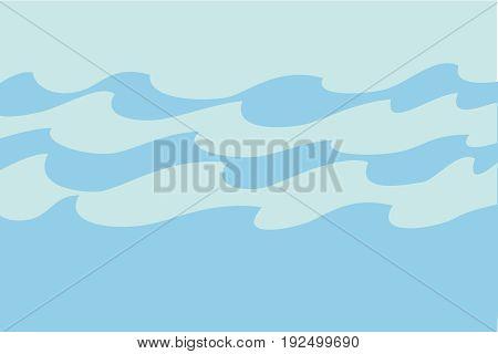 Blaue Wellen im Meer Ozean. Vektor abstrakten Hintergrund. buntes Wasser Tapete