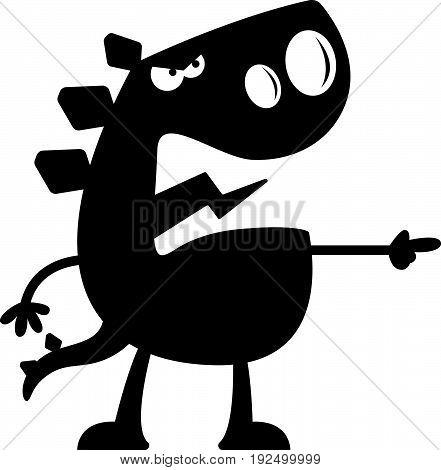Cartoon Stegosaurus Silhouette Angry