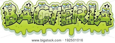 Cartoon Slimy Bacteria Text
