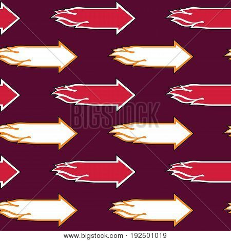Flame Arrow seamless pattern background. Vector Illustration