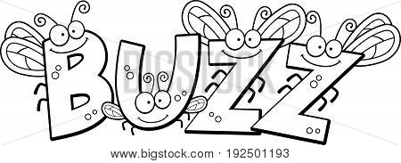Cartoon Buzz Fly Text