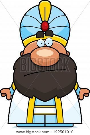 Cartoon Sultan Bored
