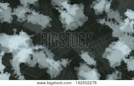 Black chalky water color background texture on dark black background