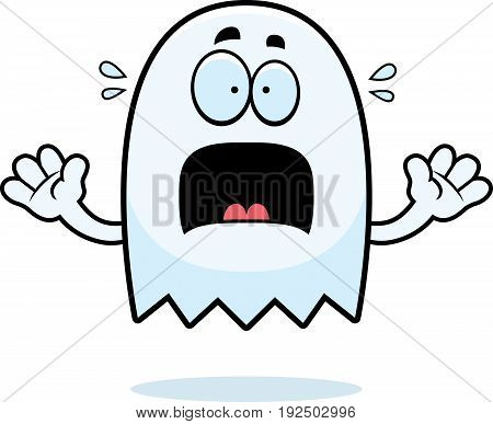 Scared Cartoon Ghost