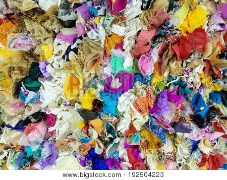 collection of colorful pieces of fabric background