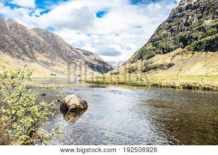 Loch Achtriochtan and Aonach Eagh Ridge, Glencoe, Scotland