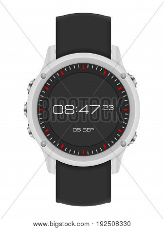 Watch on a white background. Vector illustration.