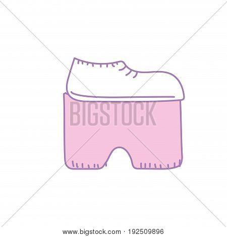 hippie shoes design and fashion decorative vector illustration