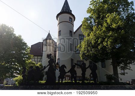 Lohr Am Main, Germany - May 27, 2017: Lohr Am Main (officially: Lohr A.main) Is A Town In The Main-s