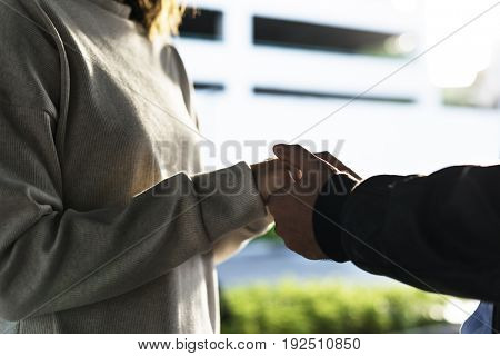 Couple Dating Happiness Holding Hand Holiday