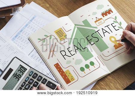 Real Estate Housing Brokerage Concept