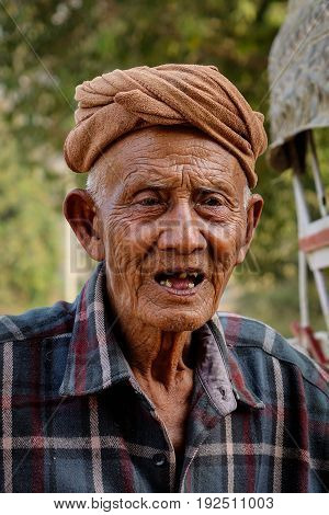 Portrait Of An Old Man In Mandalay, Myanmar