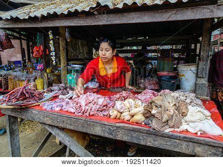 Local Market In Mandalay, Myanmar