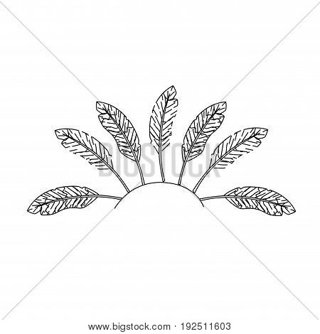 figure beauty diadem of feathers design decoration vector illustration