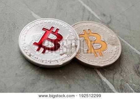 Bitcoin Colorful Concept