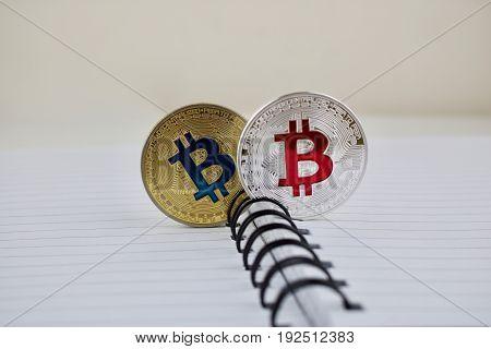Bitcoins In Notebook