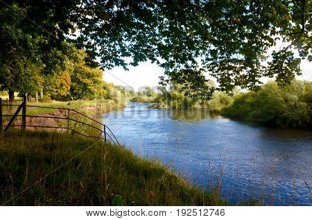 The River Clyde at Barons Haugh in Motherwell