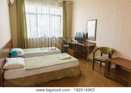 The Bright Hotel Twin Rooms Of Economy Class.