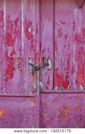 Old Door With Damaged Texture